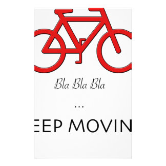 red bicycle quote stationery
