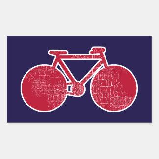 red Bicycle Rectangular Sticker