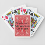 "Red Bicyle make your own Bicycle Playing Cards<br><div class=""desc"">This is a bicycle back you can sue to customize with text or am image of your choice.</div>"
