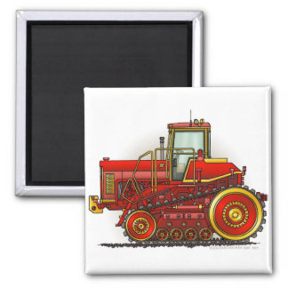 Red Big Dozer Tractor Magnets
