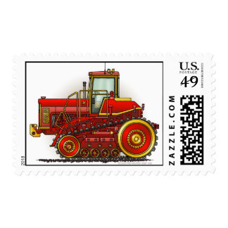 Red Big Dozer Tractor Stamps