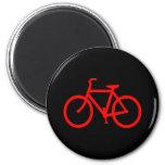 Red Bike 2 Inch Round Magnet