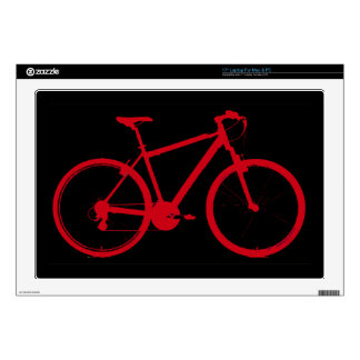 red bike, cycling laptop decals