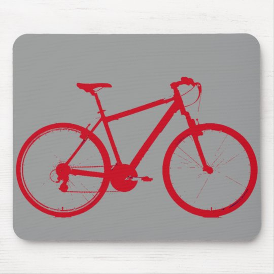 red bike, cycling mouse pad