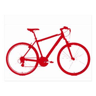 red bike, cycling postcard