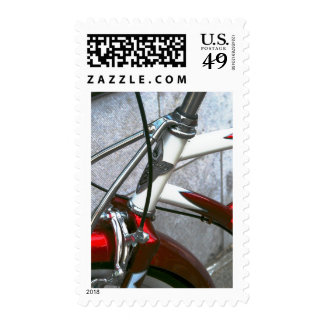 red bike postage stamps