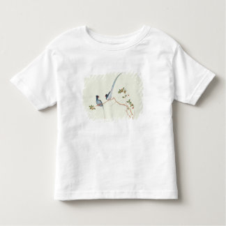 Red-billed blue magpies,a branch red berries toddler t-shirt