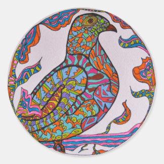 Red-billed Pigeon Round Stickers