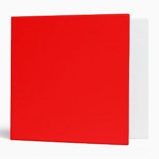 Red Vinyl Binder