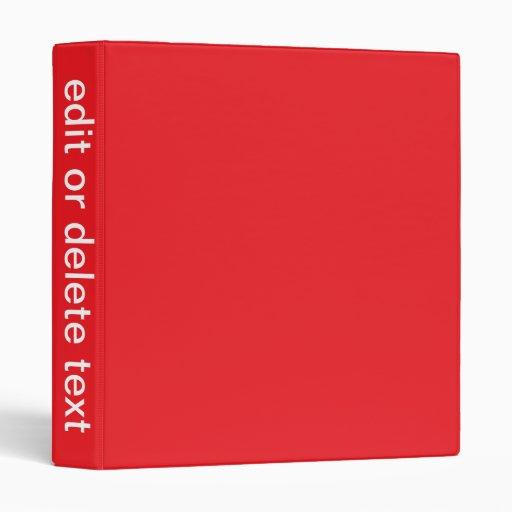 Red Binder