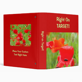 Red binder Right on Target! Red Poppies Flowers