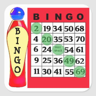 Red BINGO & Dauber Stickers