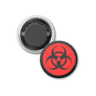 Red Biohazard Magnet