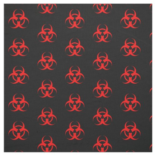 Red Biohazard Symbol Fabric