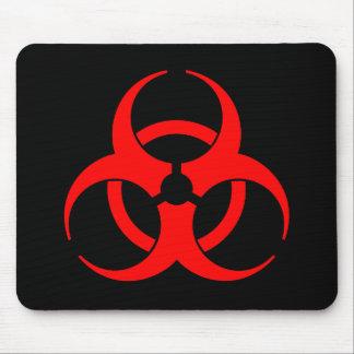 Red Biohazard Symbol Mousepad