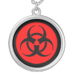 Red Biohazard Symbol Necklace Personalized Necklace