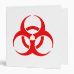 Red Biohazard Symbol Vinyl Binders