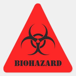 Red BIOHAZARD Warning Label Halloween Props Triangle Sticker