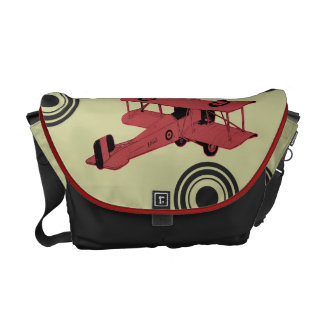 red biplane aviator bag