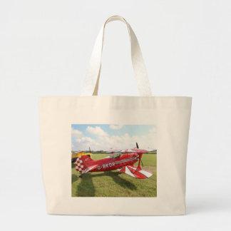 Red Biplane Large Tote Bag