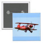 Red Biplane Pins