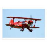 Red Biplane Postcard
