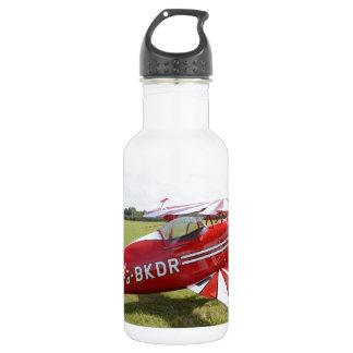 Red Biplane Water Bottle
