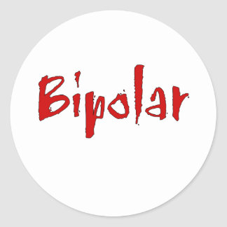 Red Bipolar Classic Round Sticker