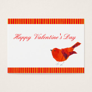 Red Bird ACEO Valentines Business Card