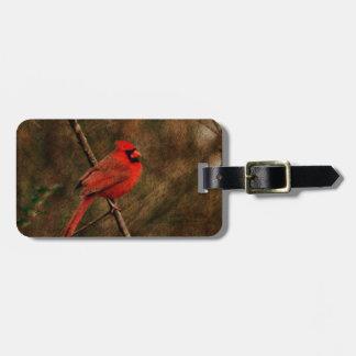 Red Bird Bag Tag