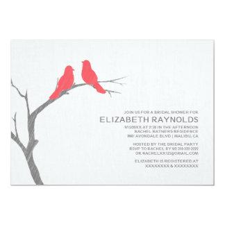 Red Bird Bridal Shower Invitations