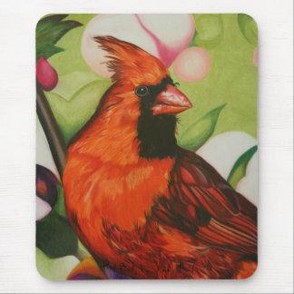 """Red Bird"" by Jenny Koch Mouse Pad"