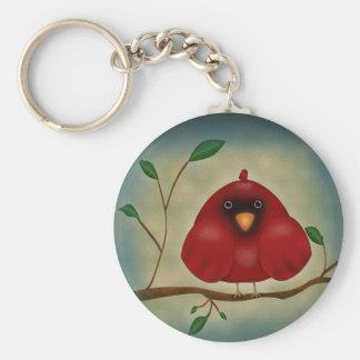 Red Bird Cardinal Keychain