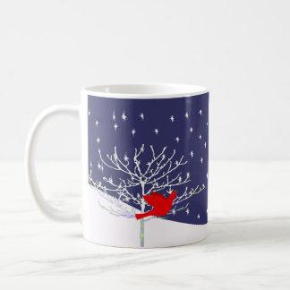 Red Bird Christmas Mug -