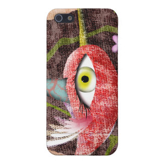 Red bird distressed old styled vintage iphone Case