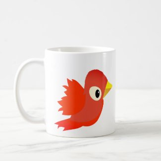Red Bird Flying Coffee Mug