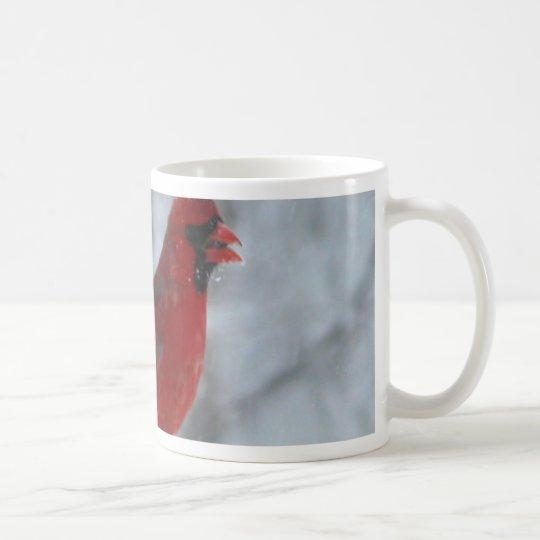 Red Bird in the Snow Coffee Mug