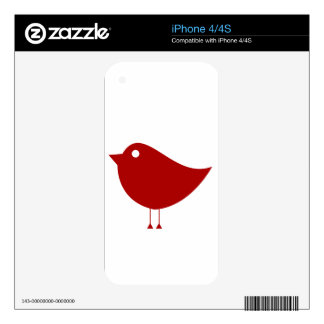 Red Bird iPhone 4 Decal