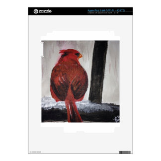 Red Bird on a Snowy Ledge Skin For iPad 3