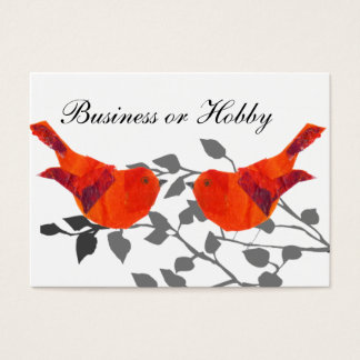 Red bird sitting on a branch business card