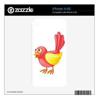 Red bird decal for the iPhone 4