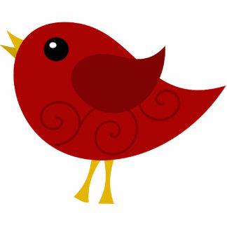 Red Bird Statuette