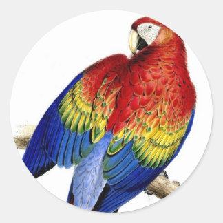 Red Bird Classic Round Sticker