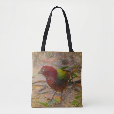 Beach Themed Red Bird Tote