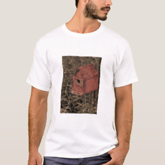 Red Birdhouse T-Shirt