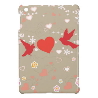 red birds and heart i pad mini cover for the iPad mini