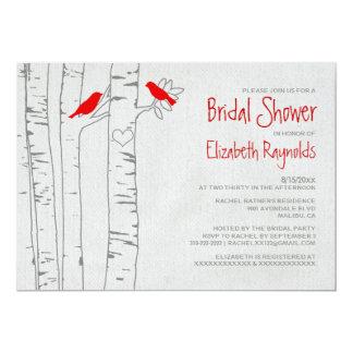 Red Birds Bridal Shower Invitations