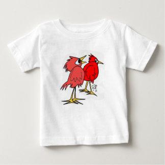 Red Birds Cartoon Baby T-Shirt