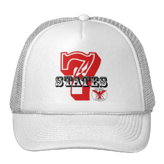 RED BIRDS FOREVER - 7 STATES - BIG 7 TRUCKER HAT