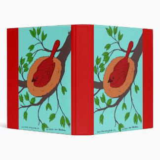 Red Bird's Nest Vinyl Binder